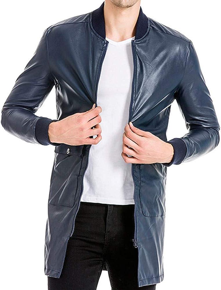 Mens Fashion Retro Faux Leather Gothic Long Coat Steampunk Gothic Vampire Hunter Matrix Long Trench Coat