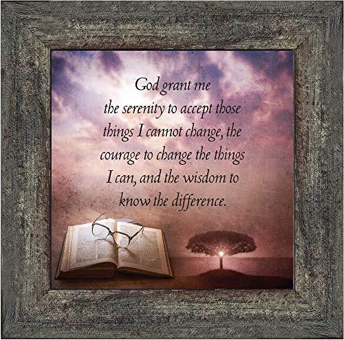 (Elegantly Yours Serenity Prayer, Serenity Prayer Wall Decor, Prayer Art, 10x10 8674BW)