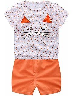 44604ac8b97f2 ARAUS Garçons et Filles à Manches Courtes T-Shirt Coton + Pantalon Courte  Enfants sous