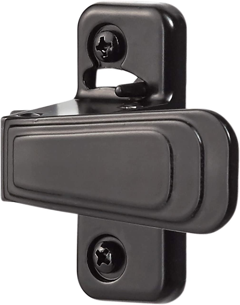 Ideal Security Inc. WCAC WC Storm and Screen Doors with Night Latch, Locks from Inside Only, Black