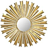 Safavieh Home Collection Golden Arrows Sunburst Mirror, Antique Gold