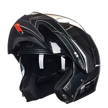 MERRYHE Moto Cara Completa Casco Para Moto Unisex Moda Cara Abierta Lentes De Té Cascos Lentes