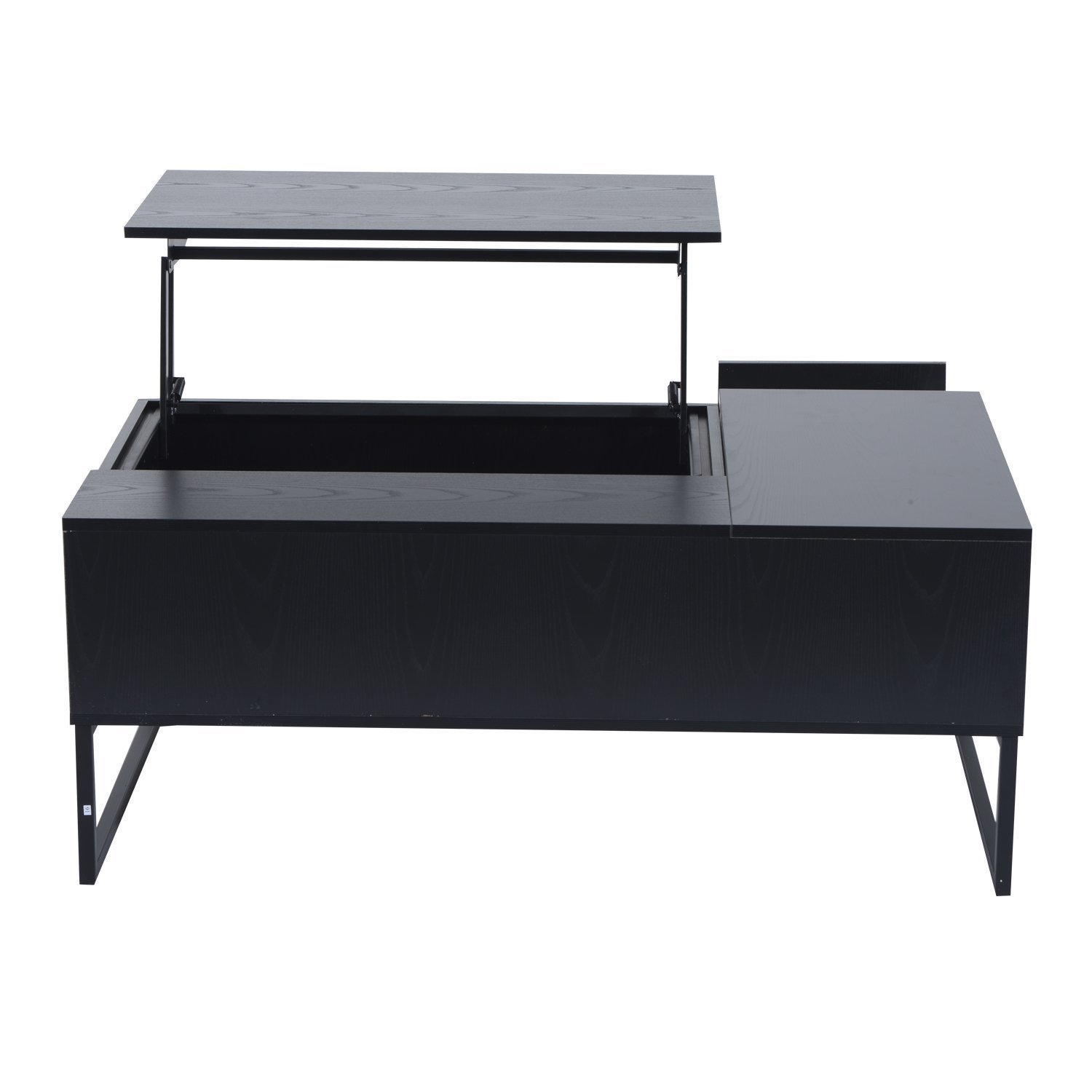 "Amazon Hom 43"" Modern Lift Top Coffee Table Black"