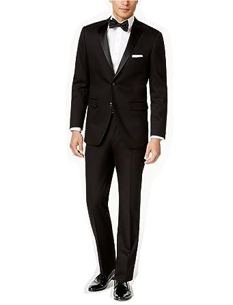 Dressvip Costume Homme pour Mariage Couleur Unie Noir Deux Boutons Slim Fit  Deux Pièces Pantalon Veste 406349b7411