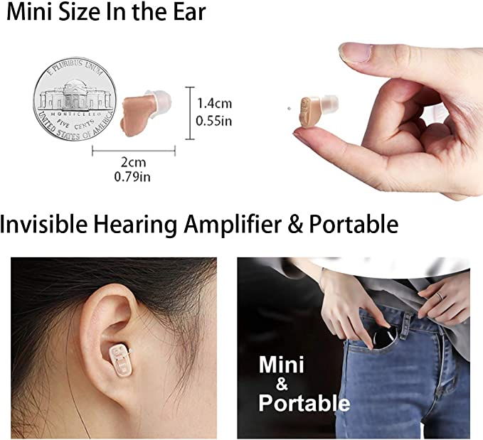 Orecchie sinistre e sinistre HAOQI Amplificatore sonoro Invisibile Amplificatore sonoro allavanguardia per Le Persone anziane
