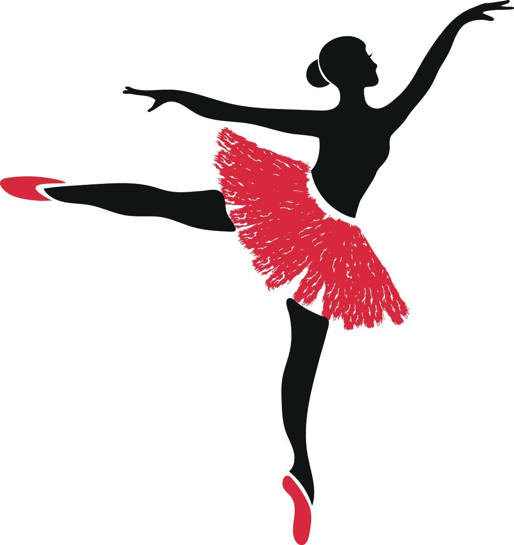 Amazon Com Beautiful Ballerina Dancer Cartoon Silhouette Vinyl Sticker 12 Tall Arabesque Automotive