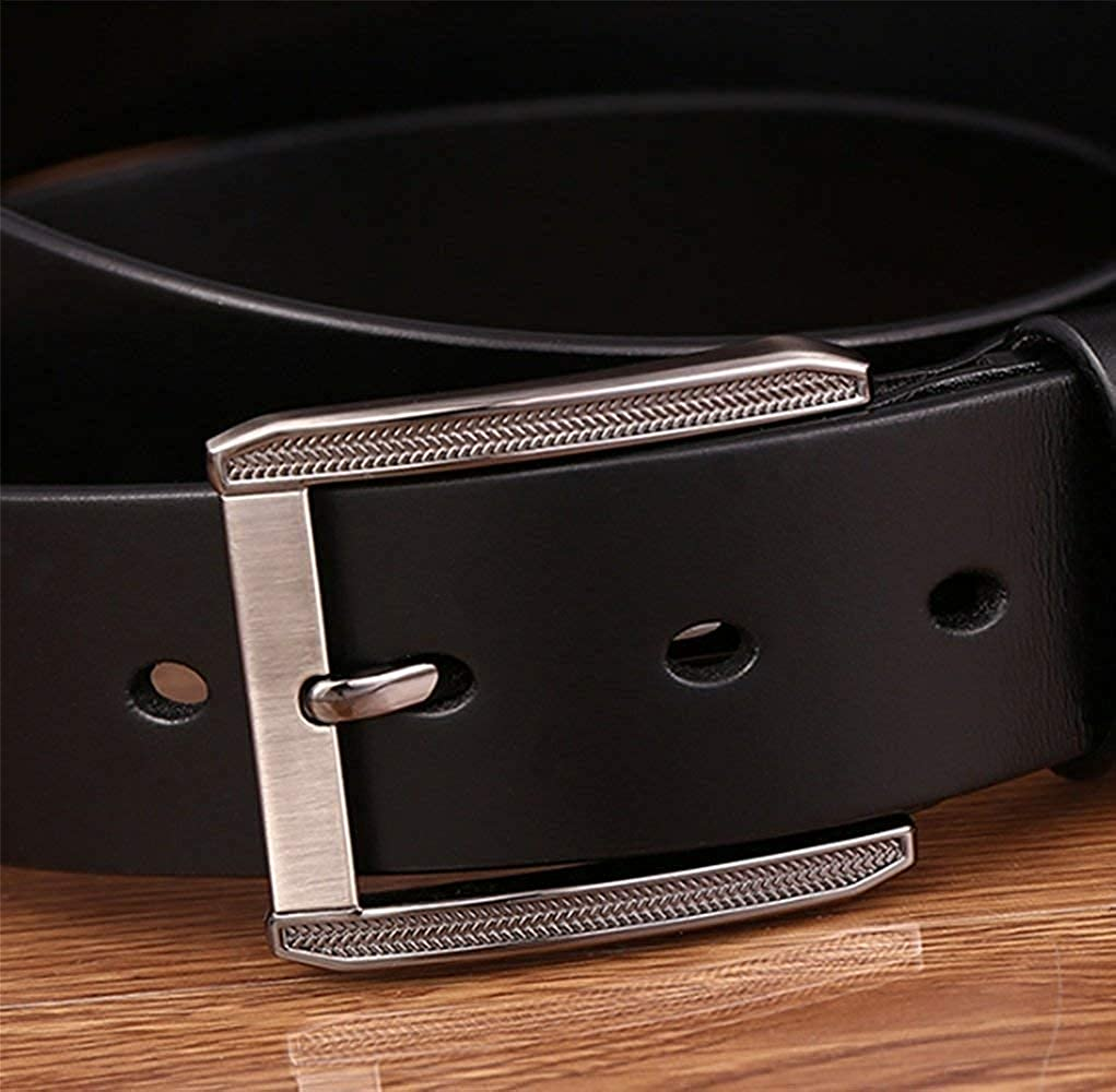 LVLUOYE Mens belt Decoration Men First Layer Classic Jeans Pin Automatic Buckle Rtel