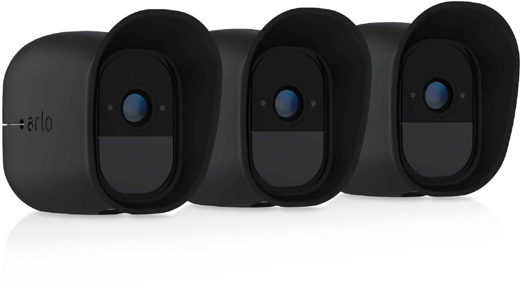 Arlo Pro by NETGEAR Skins – Set of 3 (Black) – Arlo Pro Compatible (VMA4200B) [Official]