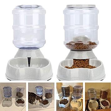 Ydq Comederos AutomáTicos De Alimentos/Fuente De Agua AutomáTica para Perros Gatos Y Mascotas-