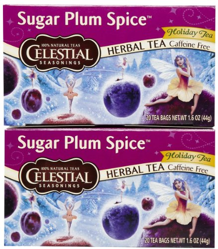Celestial Seasonings Sugar Plum Spice Herbal Holiday Tea Bags, 20 ct, 2 pk