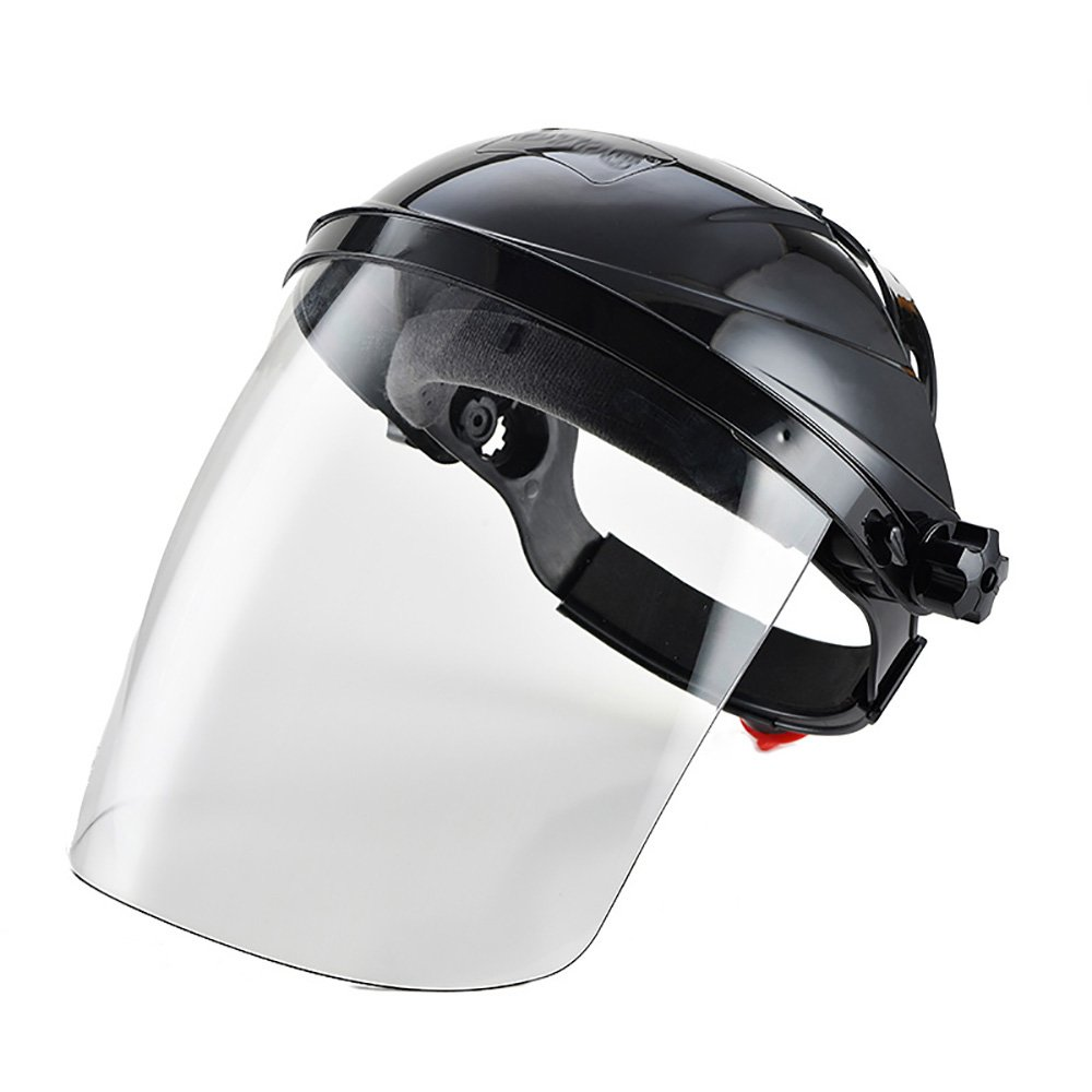 Zhi Jin Adjustable Clear Safety Face Shield Visor Screen Mask Helmet Anti Scratch Splash Eye Protection Cover Black