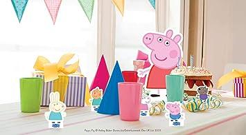 Star Cutouts TT07 Official Peppa Pig and Friends - Adornos para mesa, diseño de cerdito de pimienta, multicolor