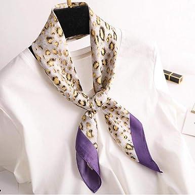 Office Scarves Head Shawl Wrap Fashion Summer Square Spring Silk Satin Leopard