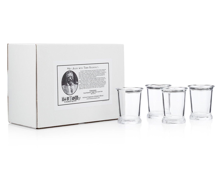 Teddy Roosevelt''1904'' Mint Julep Cups (Gift Box Set of 4)