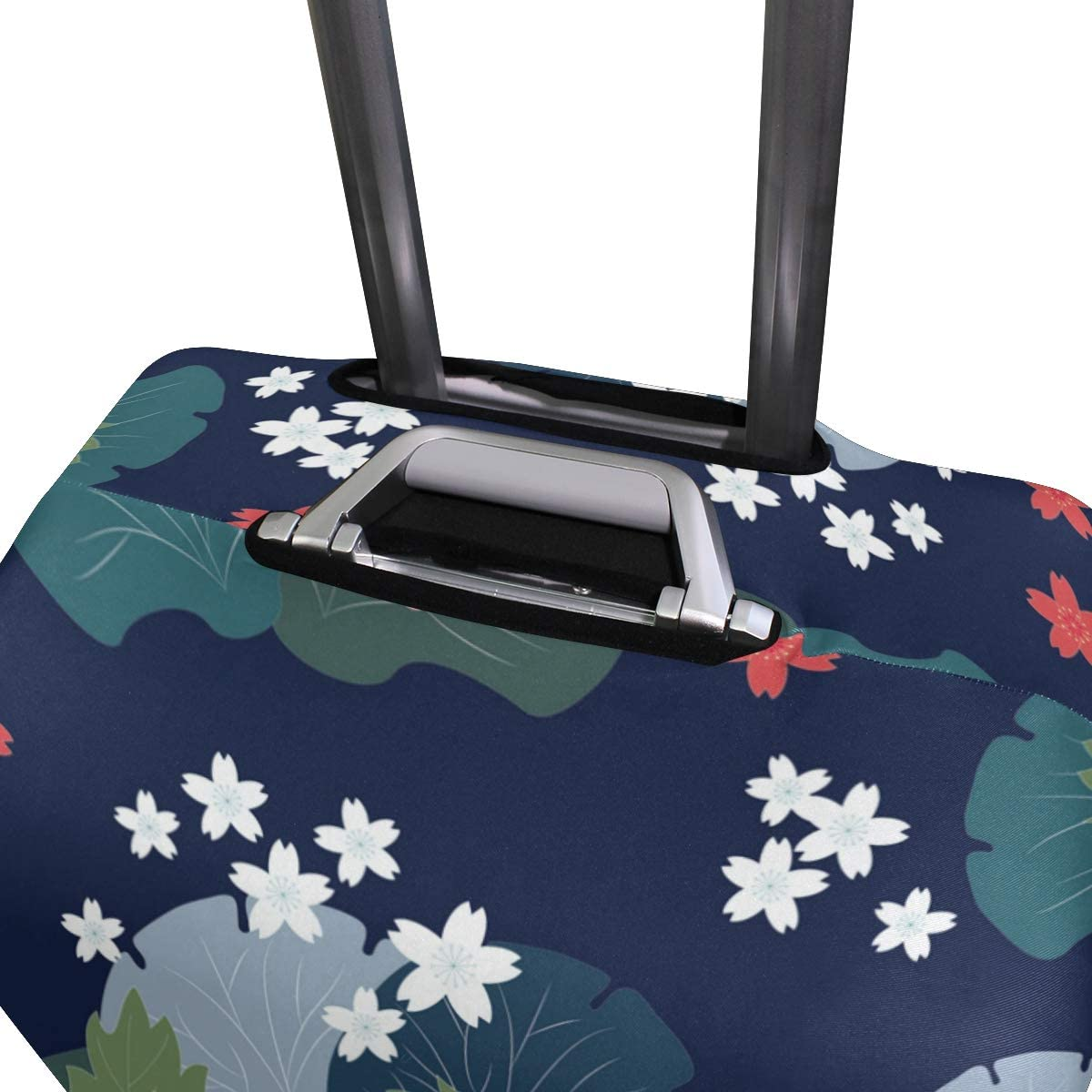 FOLPPLY Vintage Floral Print Luggage Cover Baggage Suitcase Travel Protector Fit for 18-32 Inch