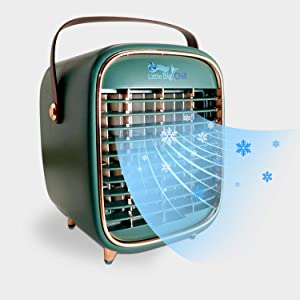 Little Big Chill Portable Personal Air Cooler Fan, Rechargeable Cordless Mini Air Conditioner/Humidifier Designed for Home, Office, Bedroom and Car. Ideal for Camping, Tailgating, The Beach