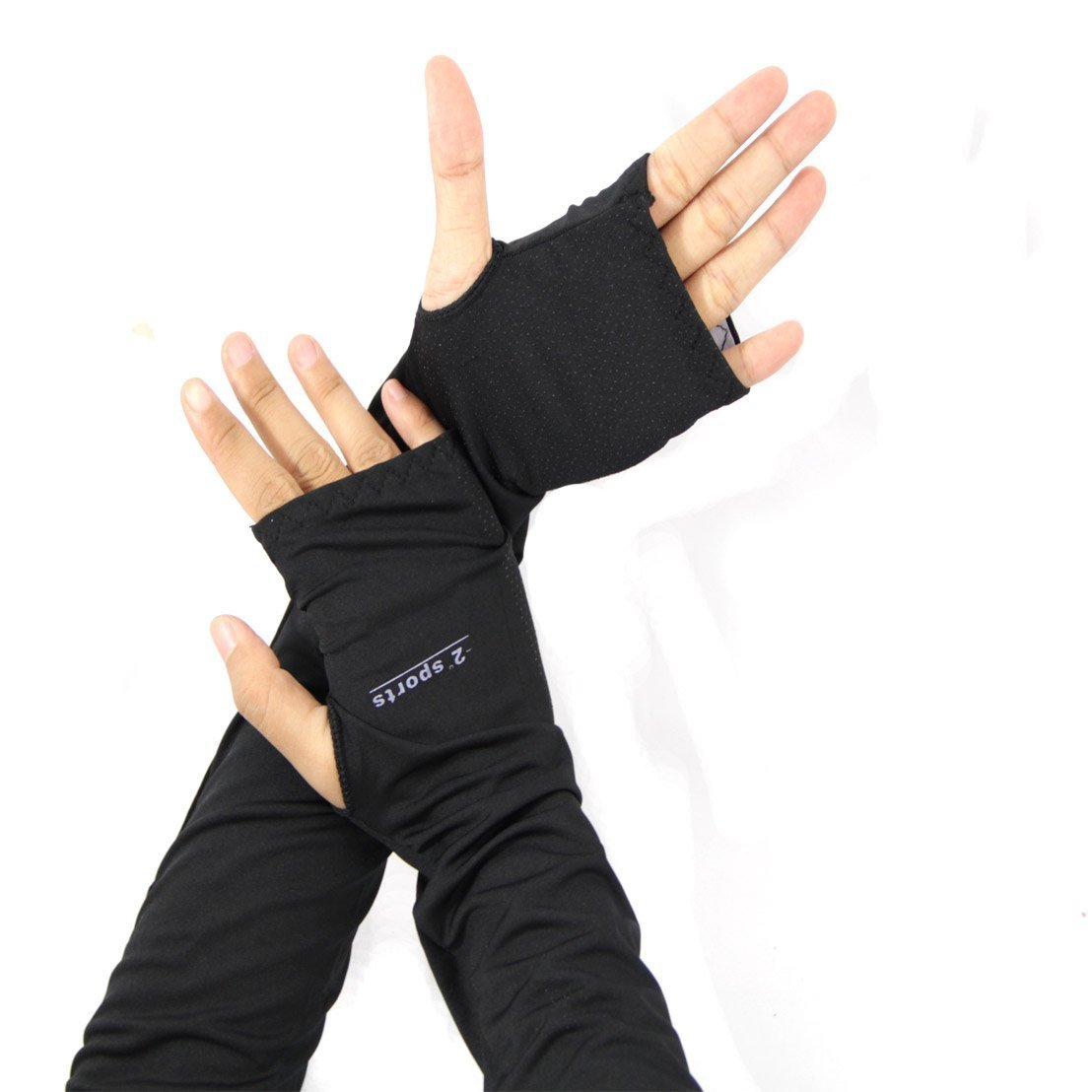 Fingerless gloves for sun protection - Amazon Com Sun Block Anti Uv Protective Gloves Elbow Length Driving Arm Sleeves With Fingerless Gloves Sports Outdoors