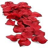 Pétalos de Rosa Rojos/Artificiales y Perfumables/Ideales para crear un Ambiente Romántico y Sensual