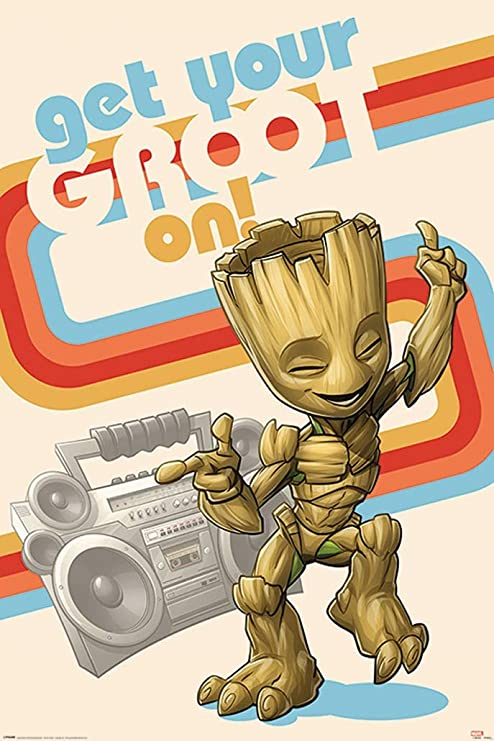 FREE P+P GROOT Poster CHOOSE YOUR SIZE New Movie Guardians Galaxy Baby Groot