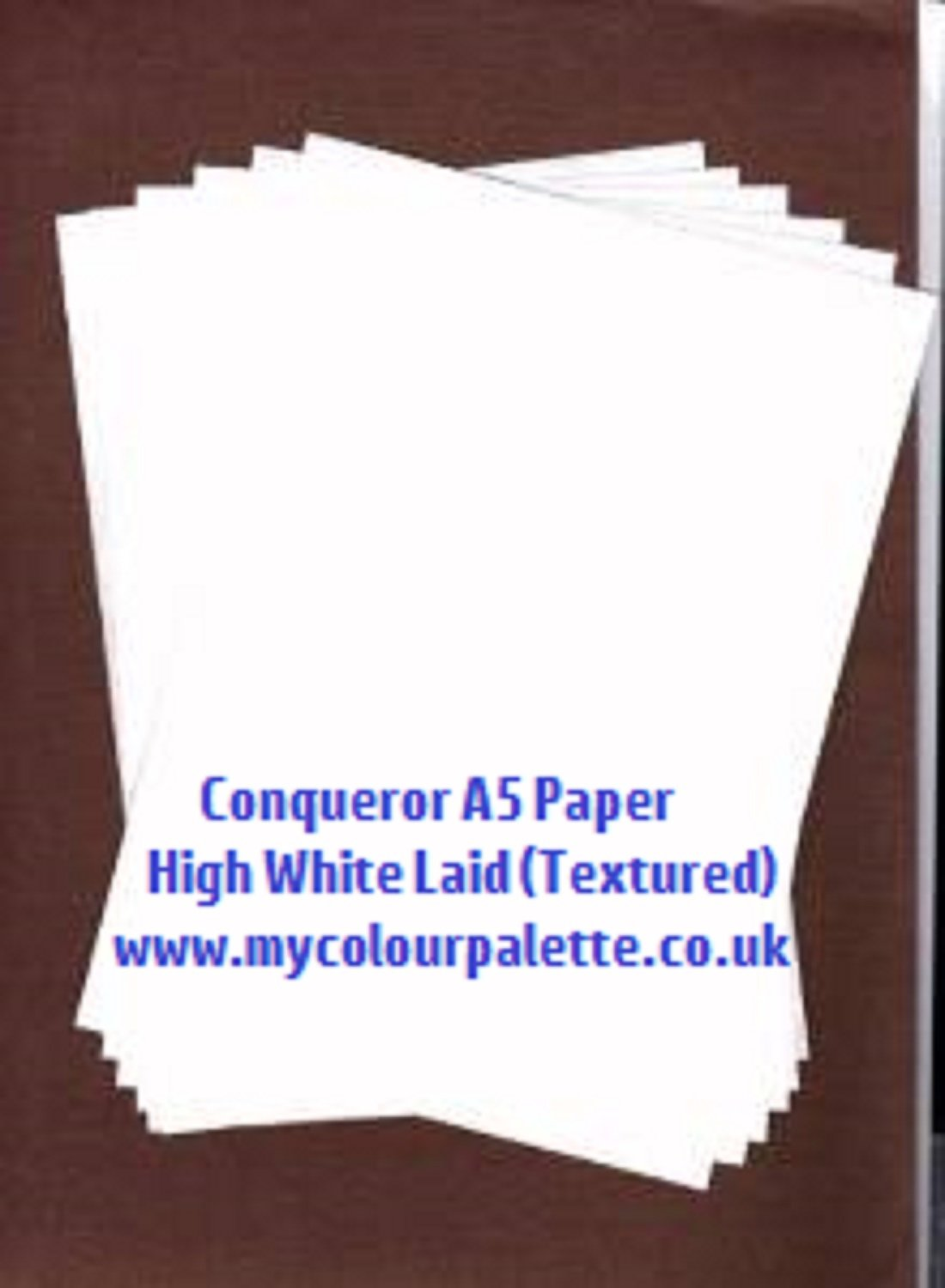 50 A5 1 2 A4 Conqueror Laid Textured High White Paper Off Amazoncouk Computers Accessories