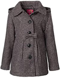 Textured Wool Coat for Girls, Babies & Toddlers with Hood
