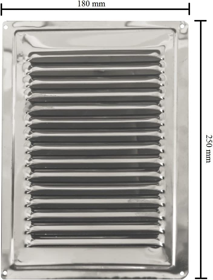 de acero inoxidable no magn/ético de acero inoxidable rejilla de ventilaci/ón 180 x 180 mm Aire rejilla de ventilaci/ón acero inoxidable Air Vent acero inoxidable de alta calidad 7 x 7 cm rejilla de ventilaci/ón exterior inox