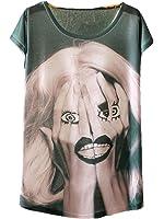 YICHUN Femme Fille Léger T-Shirt Tops Fin Tee-shirt de Loisir Eté Camisole Blouse Tees Tunique
