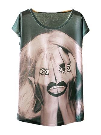 79645696504b97 YICHUN Femme Fille Léger T-Shirt Tops Fin Tee-shirt de Loisir Eté Camisole  Blouse Tees Tunique (10 )  Amazon.fr  Vêtements et accessoires