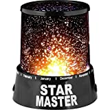 DierCosy Star Master LED Night Starry Light Lamp Projector Relaxing Mood Bedroom Living Room Luminous (Black)