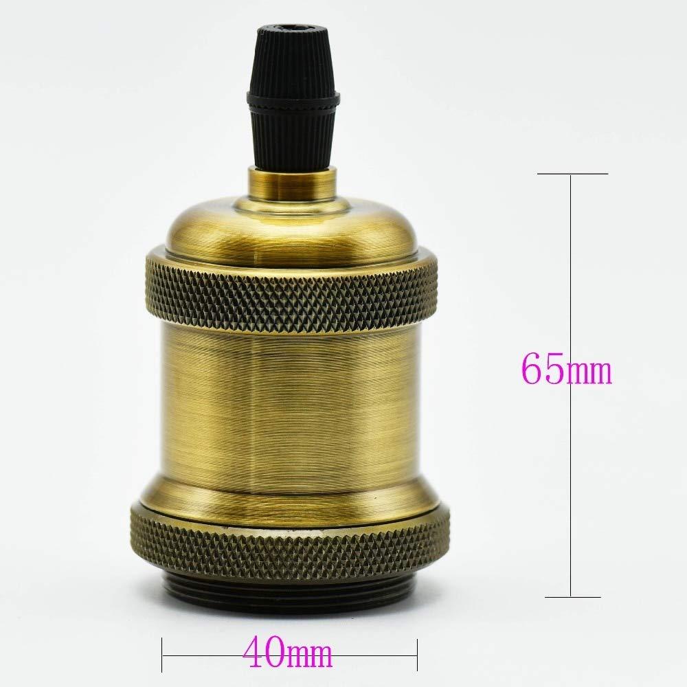 Lamp Base - 1PC E27 Antique Lamp Holder Loft Screw Edison Bulb Socket Vintage Ceramic Core Pendant Light Base UL Certified Fitting 250V - (Color: Pearl Black, Base Type: E27) by Kamas (Image #4)