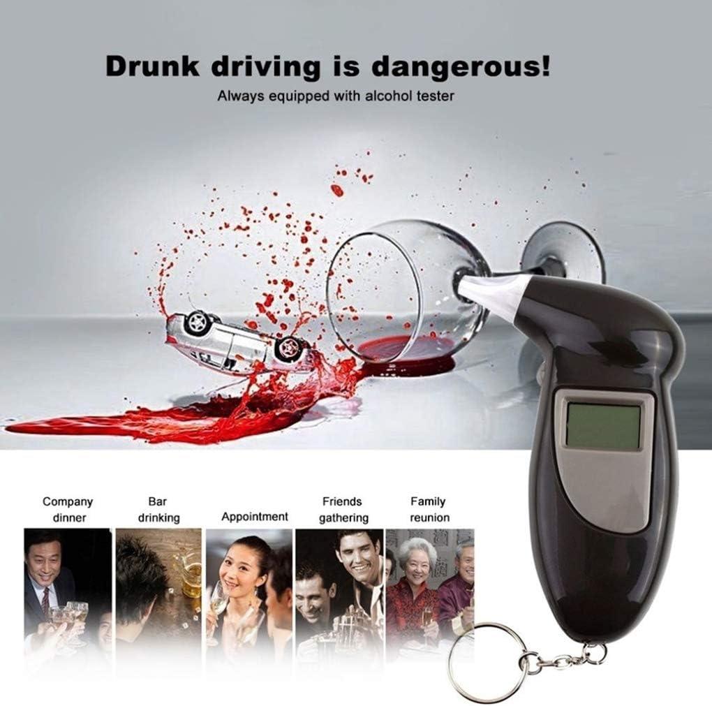 Guangcailun Affichage num/érique Tester lalcool au Volant Alarme alcootest Breath Analyzer testeur Automobile Accessoires