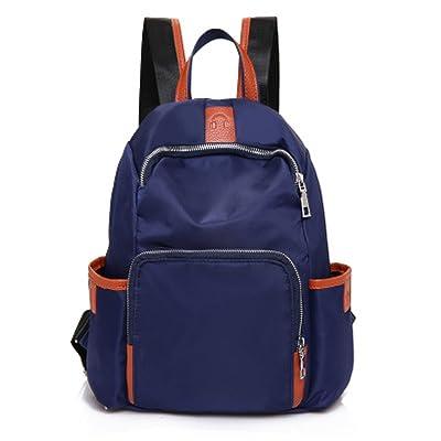 Pure Color Nylon Femme Sac à Bandoulière Travel Outdoor Backpack Student Bag Waterproof Ladies Bag (3 Couleurs)