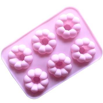 Mollete moldes 25 * 17.5 * 3cm moldes de silicona pastel de postre taza pastel pudín jalea mini Cupcake torta moldes pastel moldes mollete molde de ...