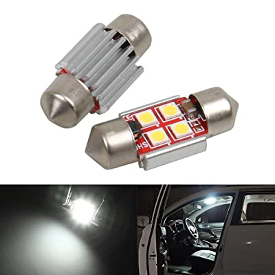 31mm DE3175 DE3021 DE3022 LED Bulb Dome Light White 6000K 3030 SMD for Cars Map License Plate Trunk Interior Lights Lamp Replacement Festoon Extremely Bright 12V 2W 1 Year Warranty 1.22 inch【1797】: Automotive