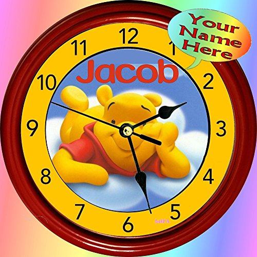 (Personalized Winnie-The-Pooh Wall Clock (8.75