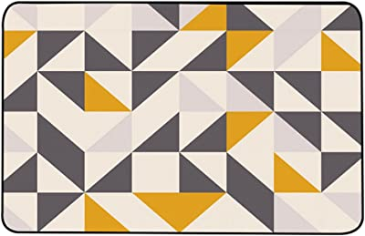 DEI QI Creative Geometric Pattern Series Carpet, Nordic Style Living Room Sofa Bedroom Bedside Soft Home Rectangular Rug, Multicolor