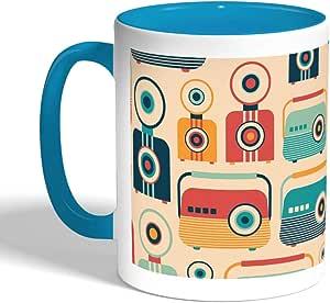 مج قهوة مطبوع, الوان تركواز, كاميرات