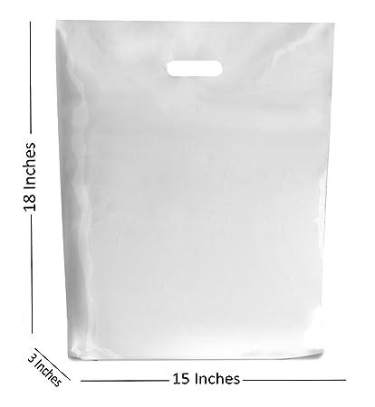 50 grande blanco bolsas de plástico ~ Boutique tienda de ...