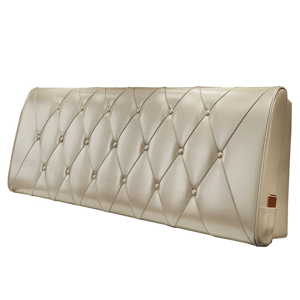 LIANGLIANG クッションベッドの背もたれ 二重の人超大型防汚衣類耐性オールインクルーシブベッドヘッド、5サイズ、10色 (色 : シャンパン色, サイズ さいず : 120x60x10cm) B07FRMNLPR 120x60x10cm|シャンパン色 シャンパン色 120x60x10cm