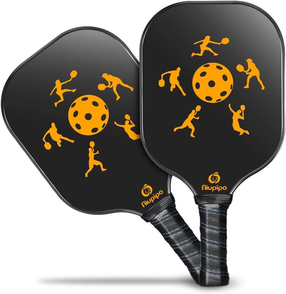 Niupipo Pickleball Paddle, Lightweight Pickleball Paddles Set 7.6oz Graphite Pickleball Rackets Honeycomb Core, Pickleball Racquets Ultra Cushion ...