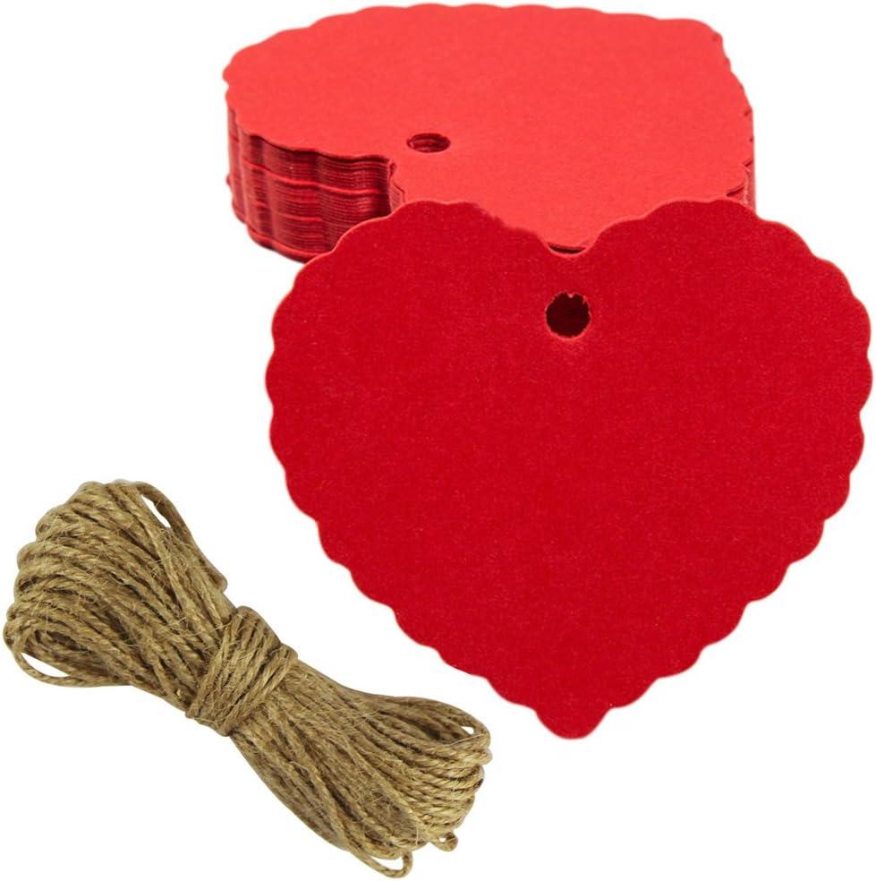 Nero EDGEAM 100pcs Kraft Etichetta Regalo Con La Corda Di Iuta Natale Wedding Birthday Party Decor