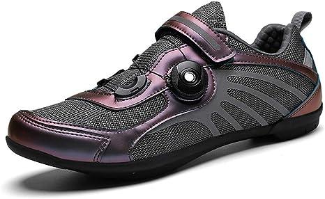 Road Zapatillas Ciclismo, Tira de Velcro y Sistema rotativo de ...