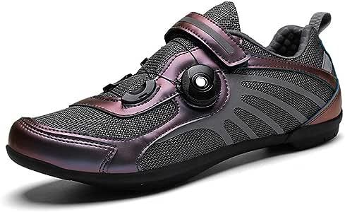 Road Zapatillas Ciclismo, Tira de Velcro y Sistema rotativo de precisión. Ligeros al Desgaste, Resistentes al Desgaste de Bicicletas, Unisex Adulto: Amazon.es: Deportes y aire libre
