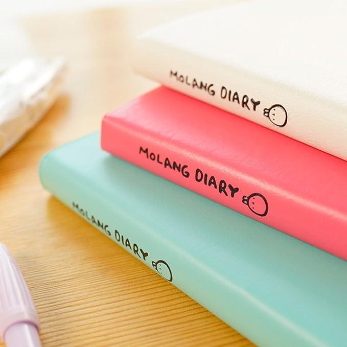 Damark (TM) 2017 - Diario Agenda semanal, diseño del conejo Molang: Cuaderno de notas, planificador, creativo, gracioso, A5, para la escuela, color ...