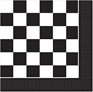 Checkered Luncheon Napkins (2-Ply) (16/Pkg)
