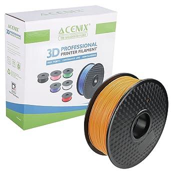 ACENIX® Naranja PLA Filamento de impresora 3D 1.75mm 1KG Filamento ...