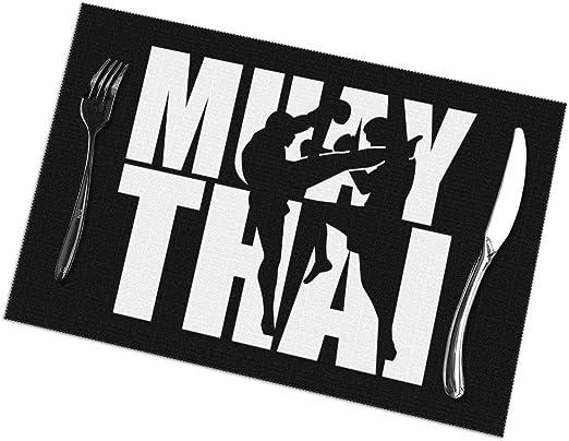 Aeykis Manteles Individuales de Muay Thai para Mesa de Comedor Juego de 6 tapetes de Mesa de Cocina: Amazon.es: Hogar