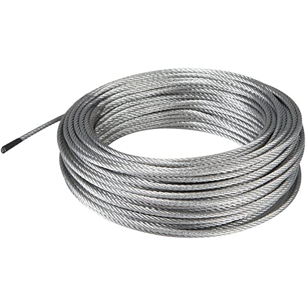 Amazon Com Haul Master 61784 100 Ft X 3mm Aircraft Grade Wire Rope Home Improvement