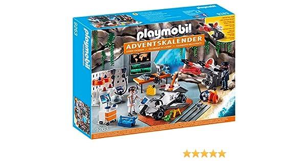 Playmobil Calendario de Adviento-9263 Agentes, Negro, Color Blanco (9263) , Modelos/colores Surtidos, 1 Unidad: Amazon.es: Juguetes y juegos