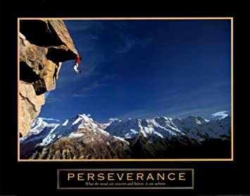 Amazon.com: Perseverance Rock Climber Mountain Climbing Scenic ...